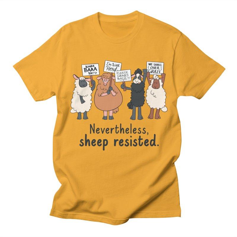 Nevertheless, Sheep Resisted Men's Regular T-Shirt by ashsans art & design shop