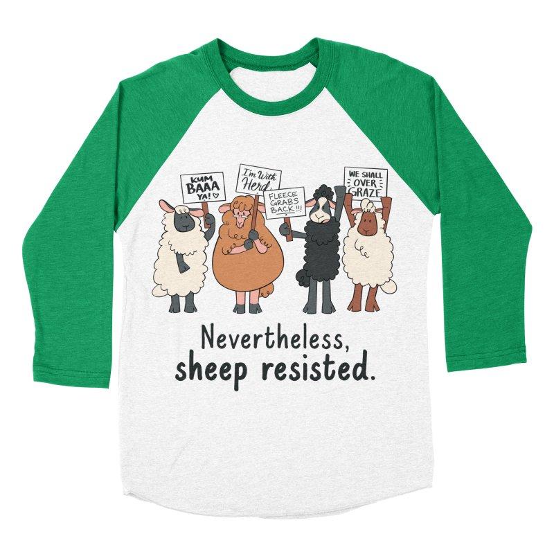 Nevertheless, Sheep Resisted Women's Baseball Triblend Longsleeve T-Shirt by ashsans art & design shop