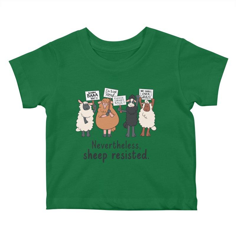 Nevertheless, Sheep Resisted Kids Baby T-Shirt by ashsans art & design shop