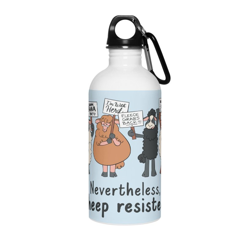 Nevertheless, Sheep Resisted Accessories Water Bottle by ashsans art & design shop