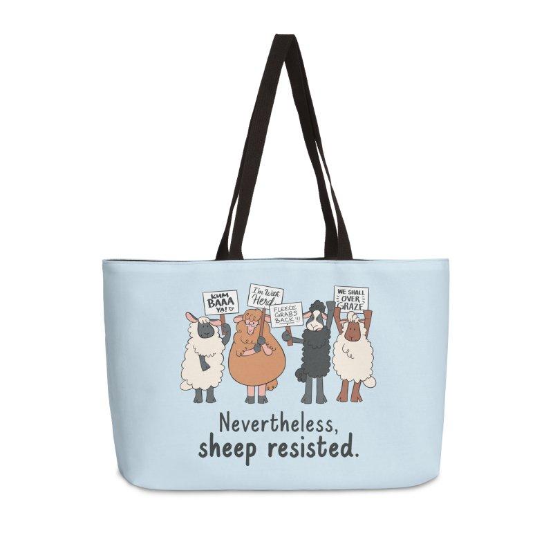 Nevertheless, Sheep Resisted Accessories Weekender Bag Bag by ashsans art & design shop