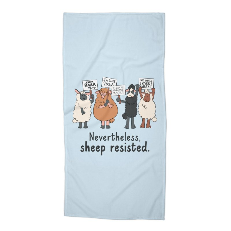 Nevertheless, Sheep Resisted Accessories Beach Towel by ashsans art & design shop