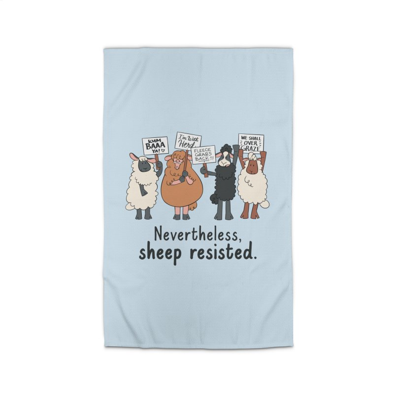 Nevertheless, Sheep Resisted Home Rug by ashsans art & design shop
