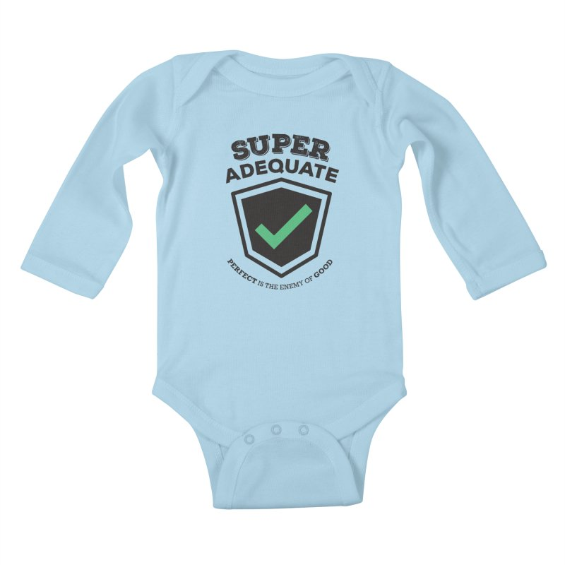 Super Adequate (dark) Kids Baby Longsleeve Bodysuit by ashsans art & design shop
