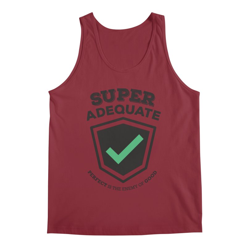 Super Adequate (dark) Men's Tank by ashsans art & design shop