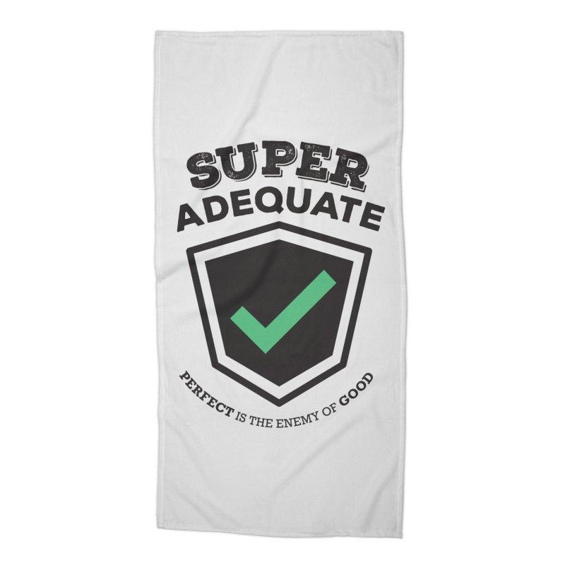 Super Adequate (dark) Accessories Beach Towel by ashsans art & design shop