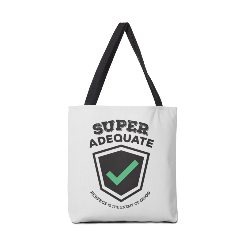 Super Adequate (dark) Accessories Bag by ashsans art & design shop