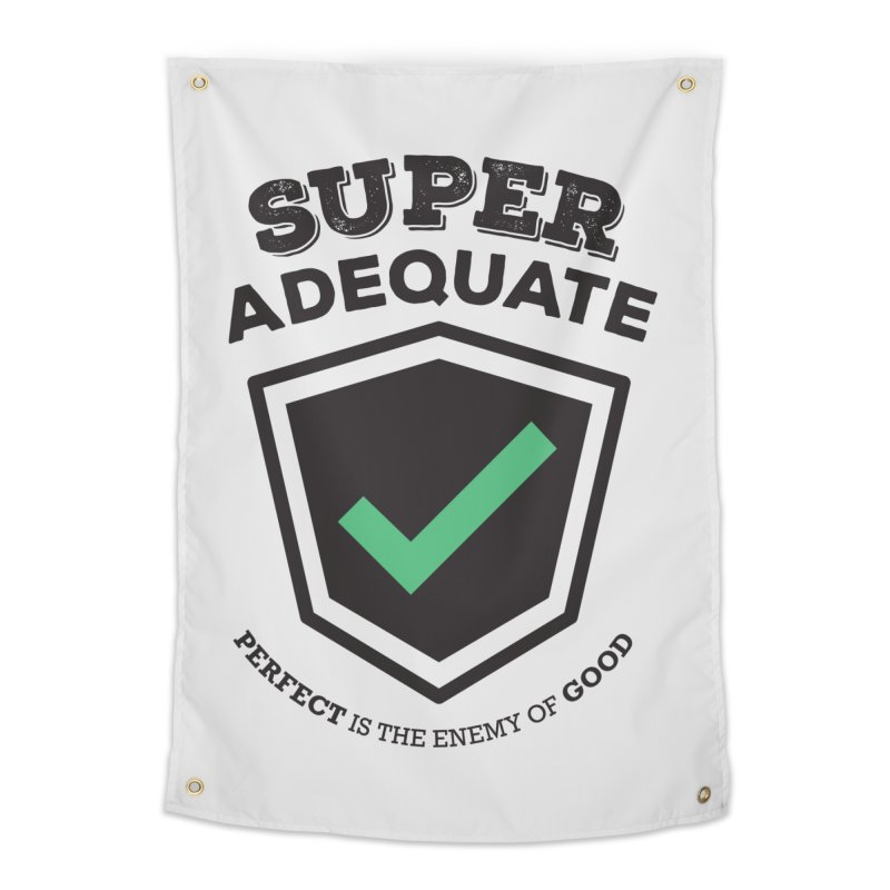 Super Adequate (dark) Home Tapestry by ashsans art & design shop
