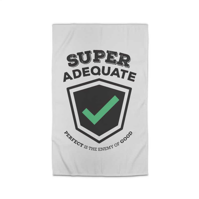 Super Adequate (dark) Home Rug by ashsans art & design shop