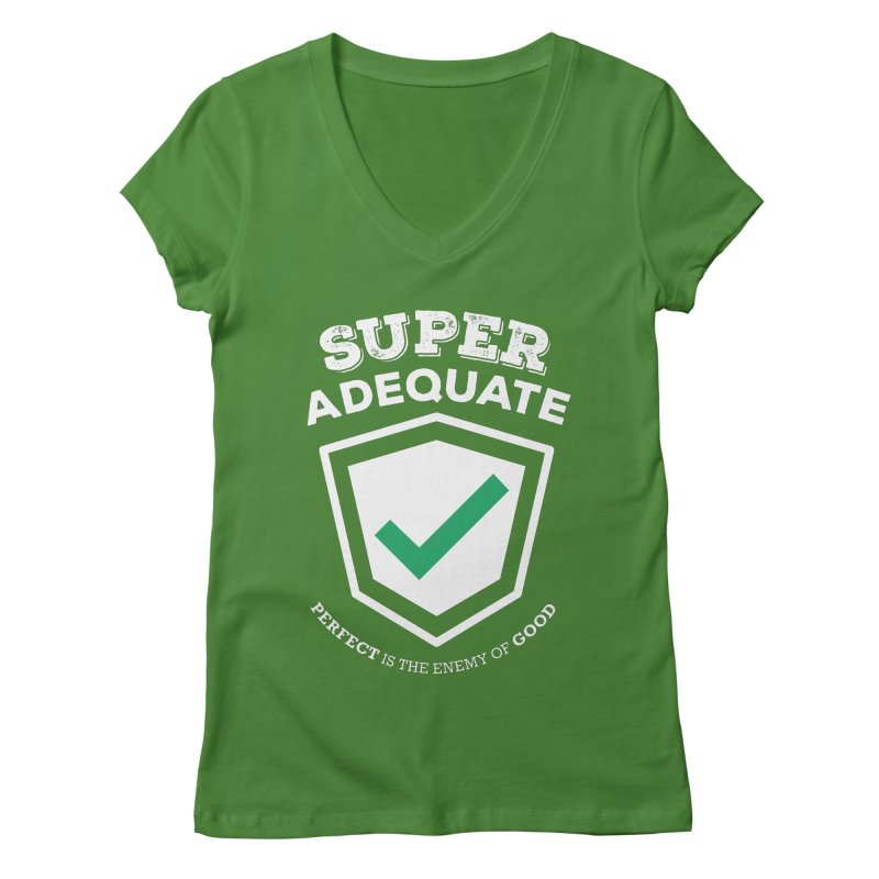 Super Adequate (light) Women's Regular V-Neck by ashsans art & design shop
