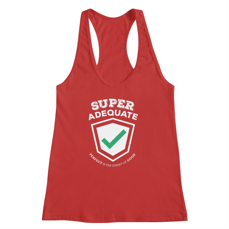 Super Adequate (light) Women's Racerback Tank by ashsans art & design shop