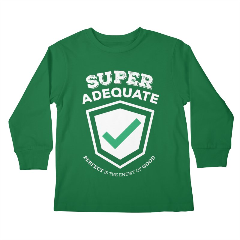 Super Adequate (light) Kids Longsleeve T-Shirt by ashsans art & design shop