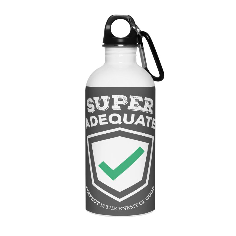 Super Adequate (light) Accessories Water Bottle by ashsans art & design shop