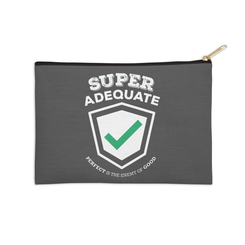 Super Adequate (light) Accessories Zip Pouch by ashsans art & design shop