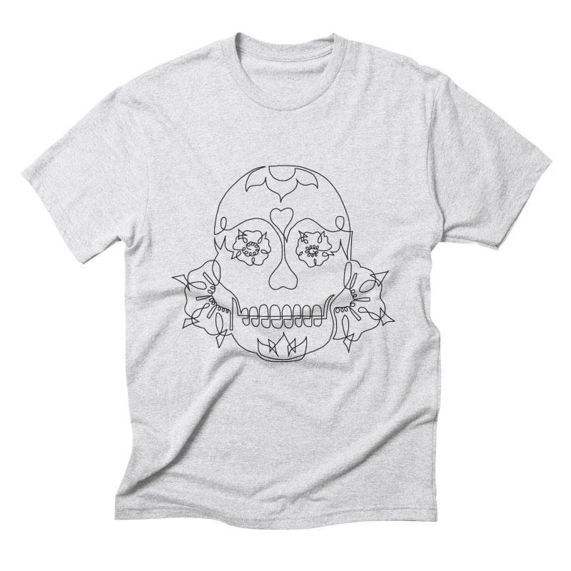 Sugar Skull Men's Triblend T-Shirt by asingleline