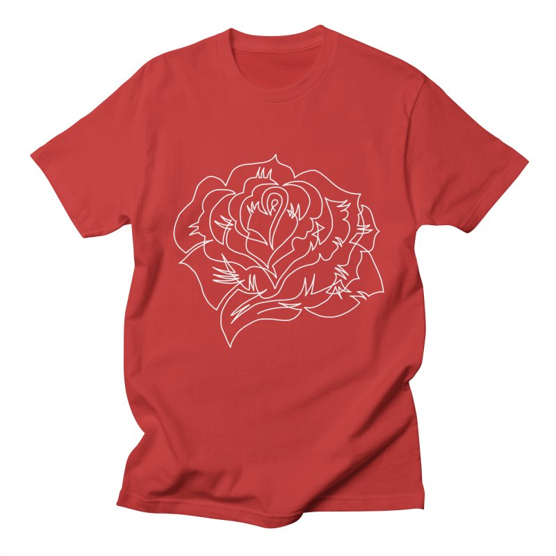 traditional rose Men's Regular T-Shirt by asingleline