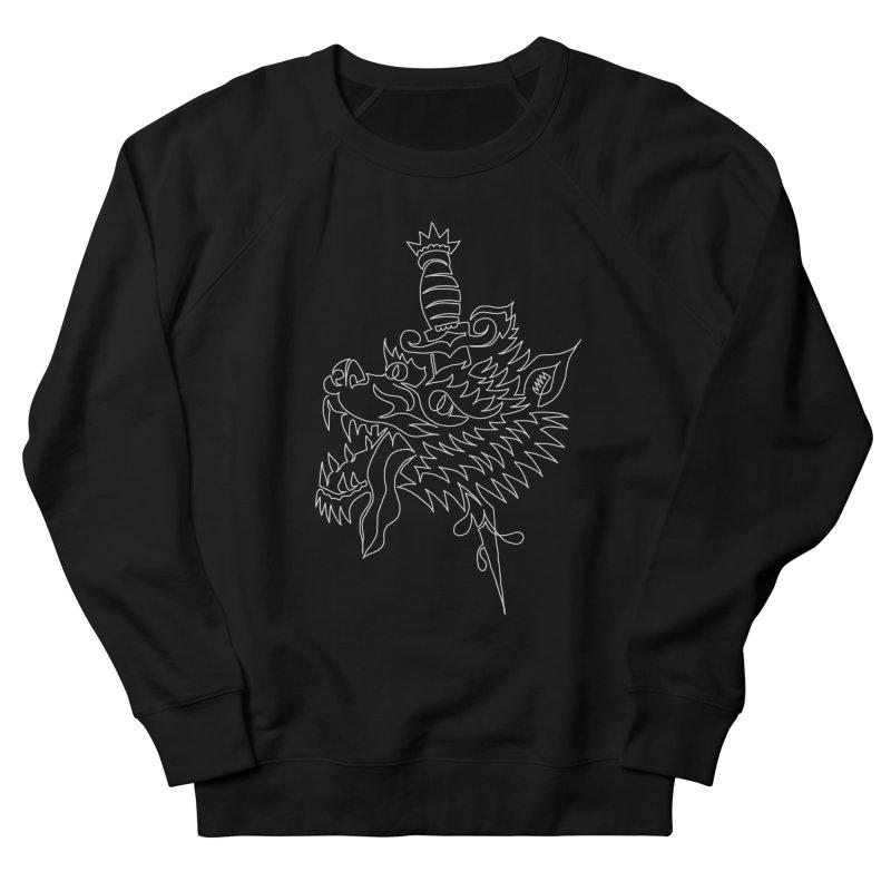 Wolf Head Men's French Terry Sweatshirt by asingleline