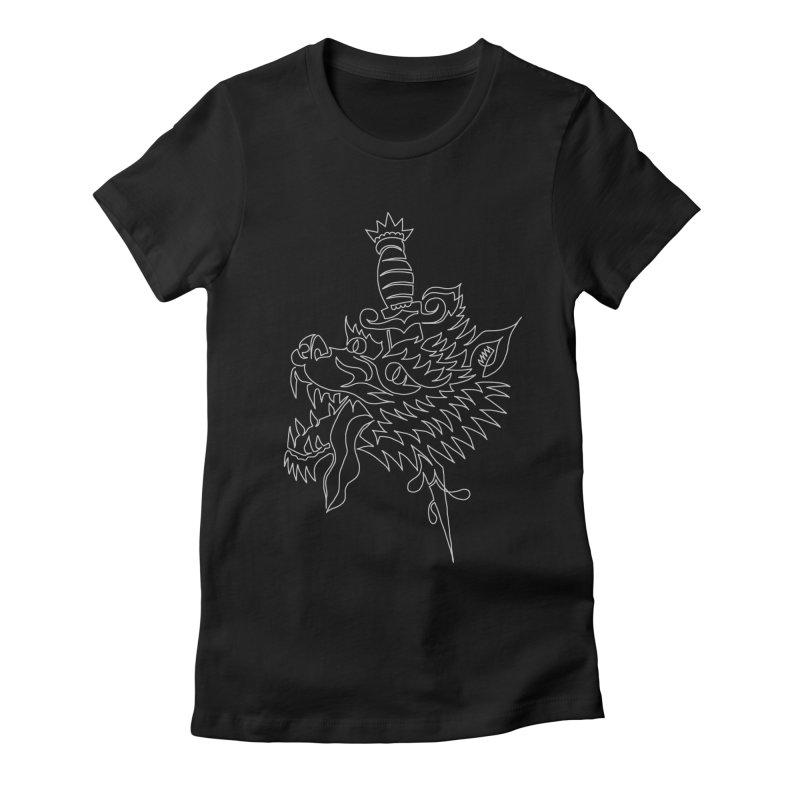 Wolf Head Women's T-Shirt by asingleline