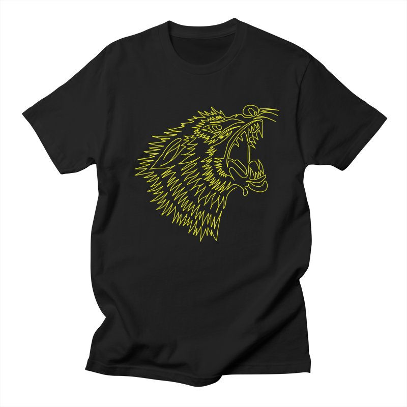Howling Wolf Men's Regular T-Shirt by asingleline
