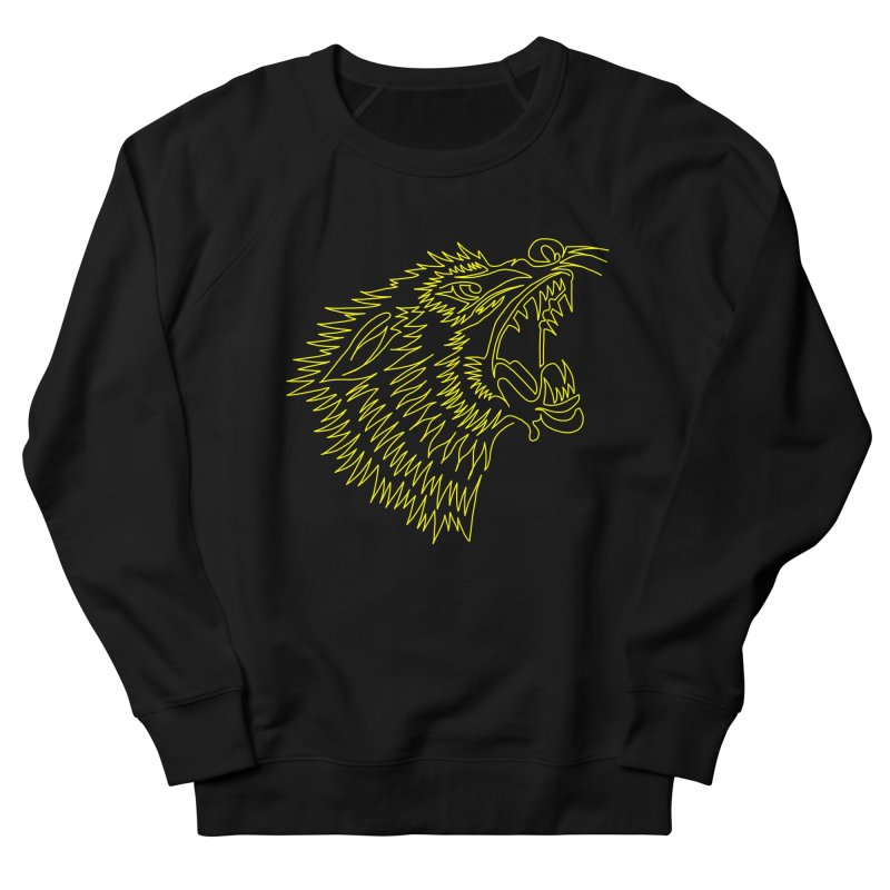 Howling Wolf Men's French Terry Sweatshirt by asingleline
