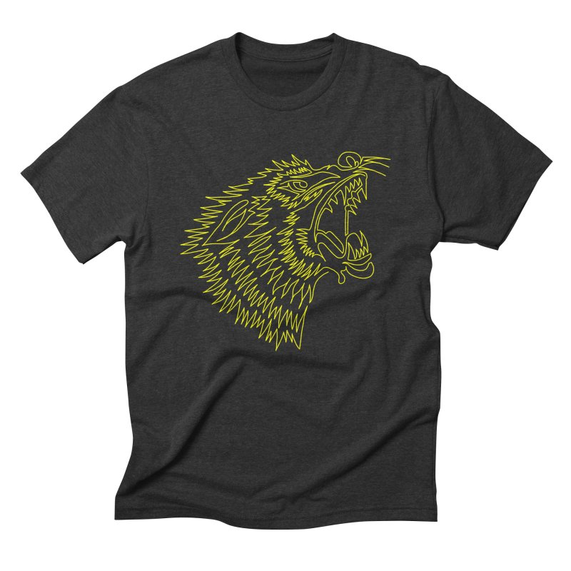 Howling Wolf Men's Triblend T-Shirt by asingleline