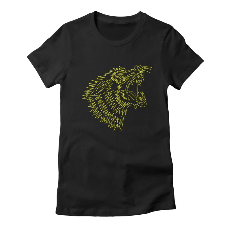 Howling Wolf Women's Fitted T-Shirt by asingleline