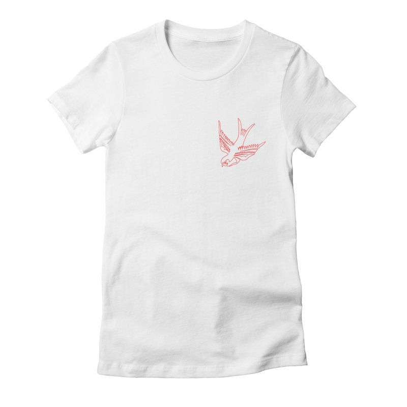 Sparrow Women's Fitted T-Shirt by asingleline