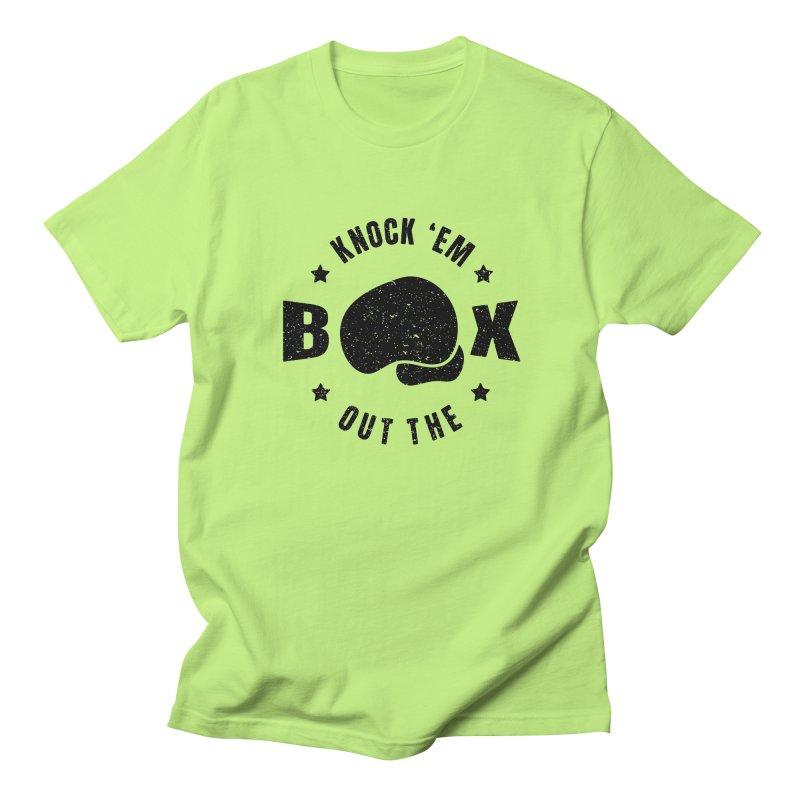 Knock Em Out The Box (black text) Men's T-Shirt by A_Sketchbook