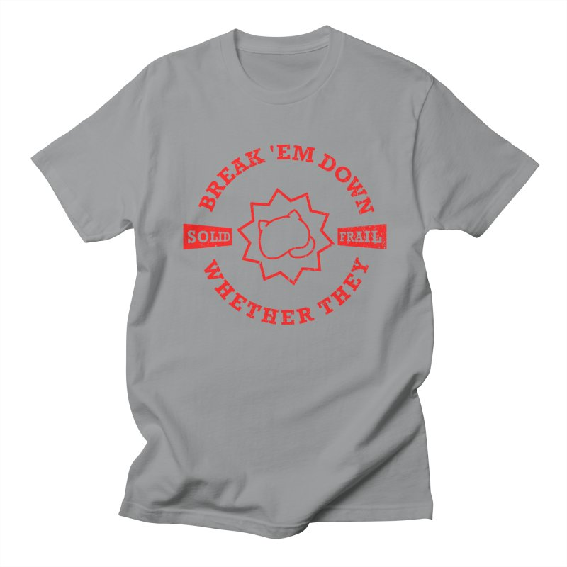 The Knuckles's Motto (red text) Men's T-Shirt by A_Sketchbook