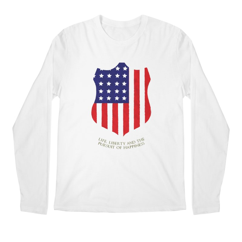 Life, Liberty, and the pursuit of Happiness Men's Longsleeve T-Shirt by asolecreative's Artist Shop