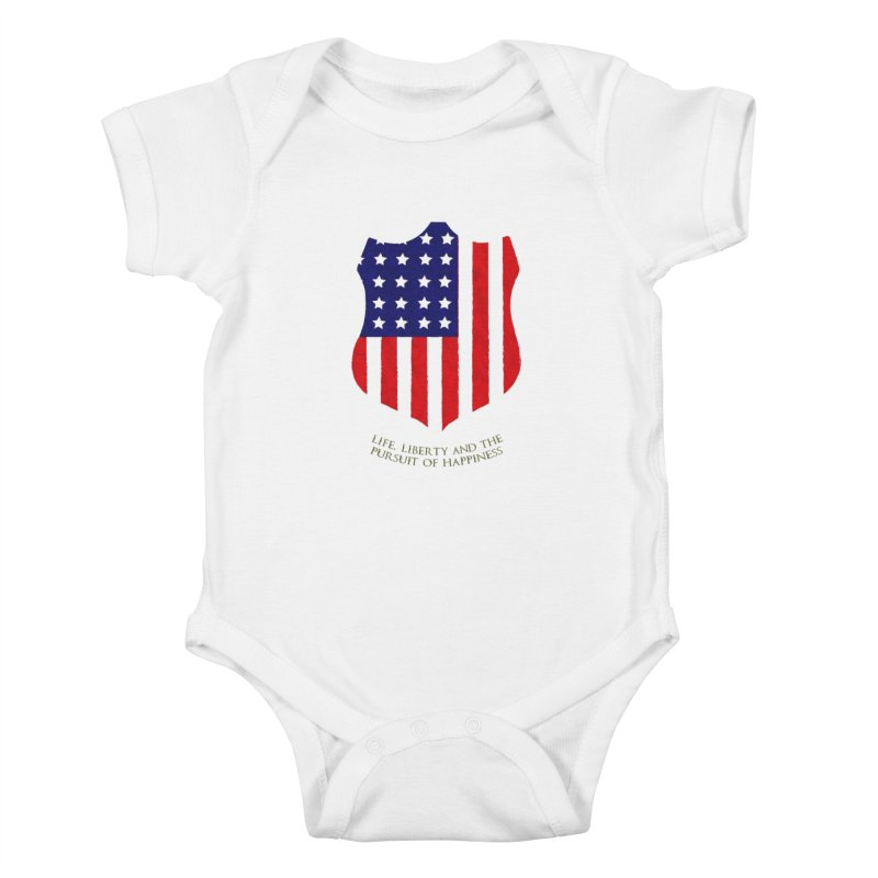 Life, Liberty, and the pursuit of Happiness Kids Baby Bodysuit by asolecreative's Artist Shop