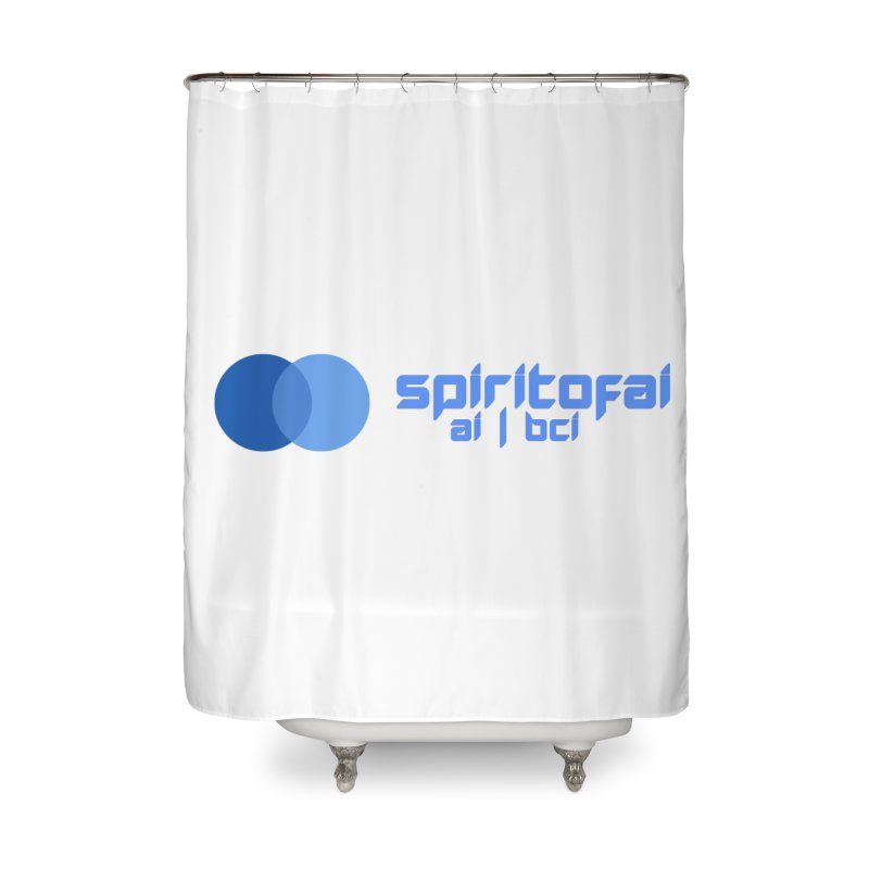 Spirit of Ai™ Home Shower Curtain by Aspect Black™