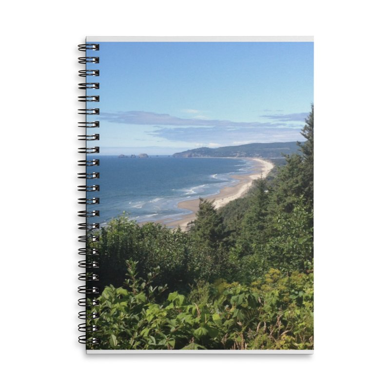 Oregon Coast Journals & Prints Accessories Lined Spiral Notebook by Aspect Black™