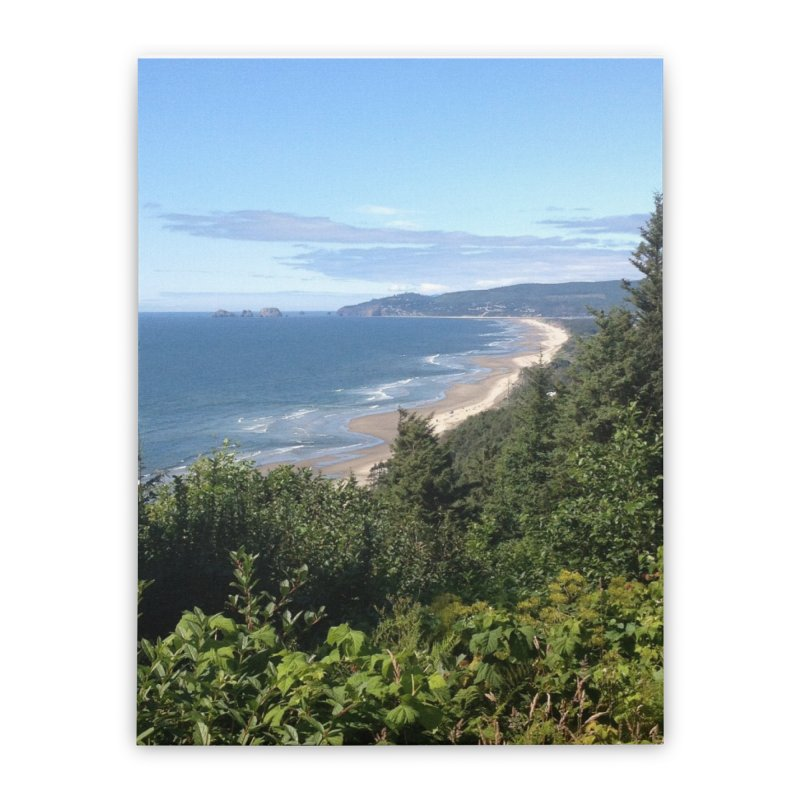 Oregon Coast Journals & Prints Home Stretched Canvas by Aspect Black™
