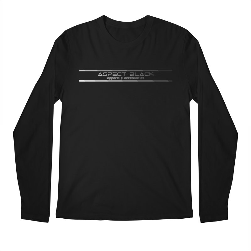 Aspect Black™ Logo Men's Longsleeve T-Shirt by Aspect Black™