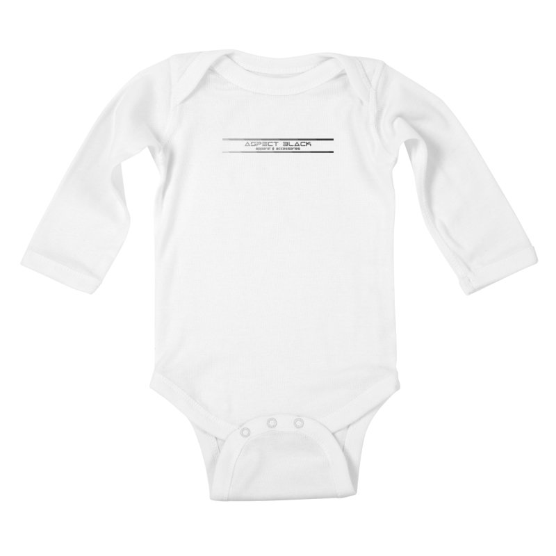 Aspect Black™ Logo Kids Baby Longsleeve Bodysuit by Aspect Black™
