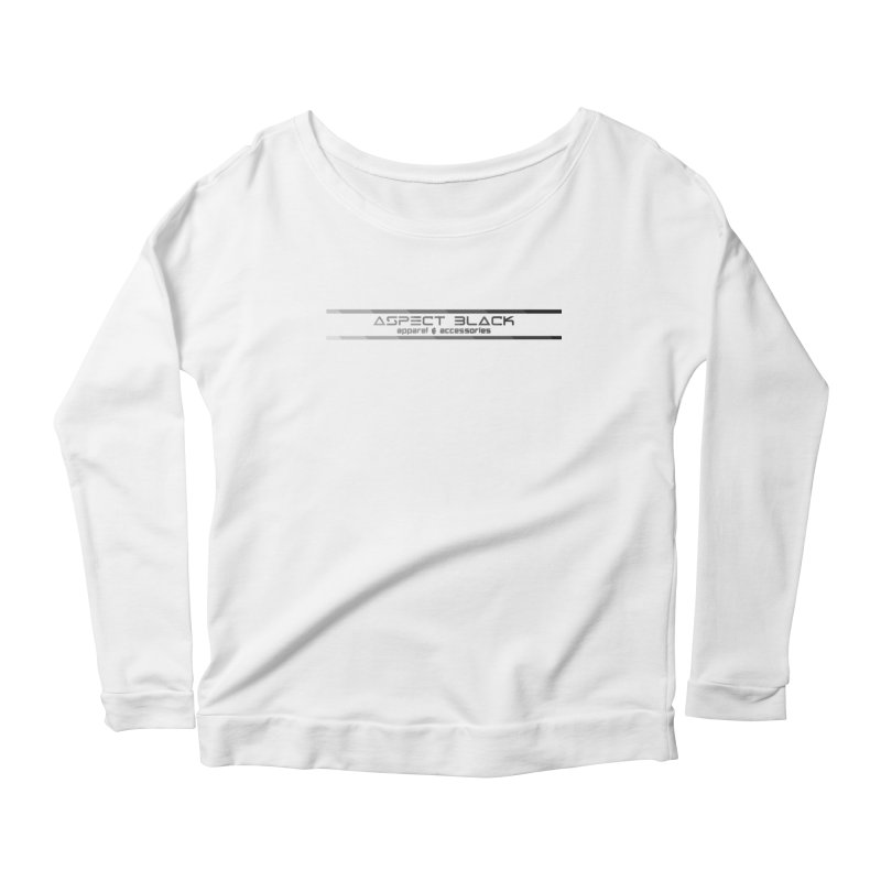 Aspect Black™ Logo Women's Scoop Neck Longsleeve T-Shirt by Aspect Black™