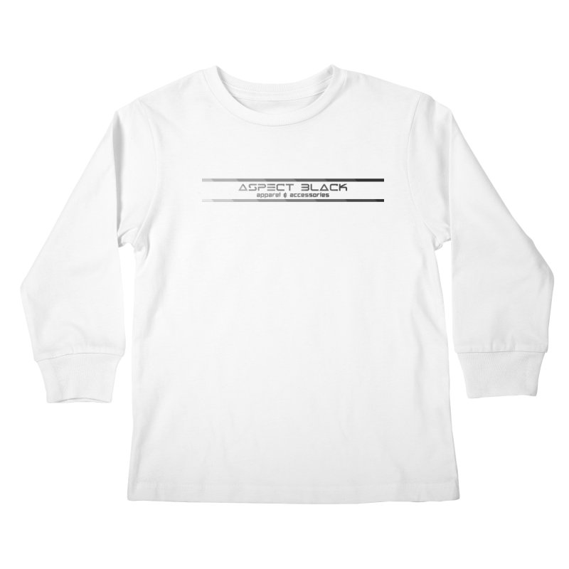 Aspect Black™ Logo Kids Longsleeve T-Shirt by Aspect Black™