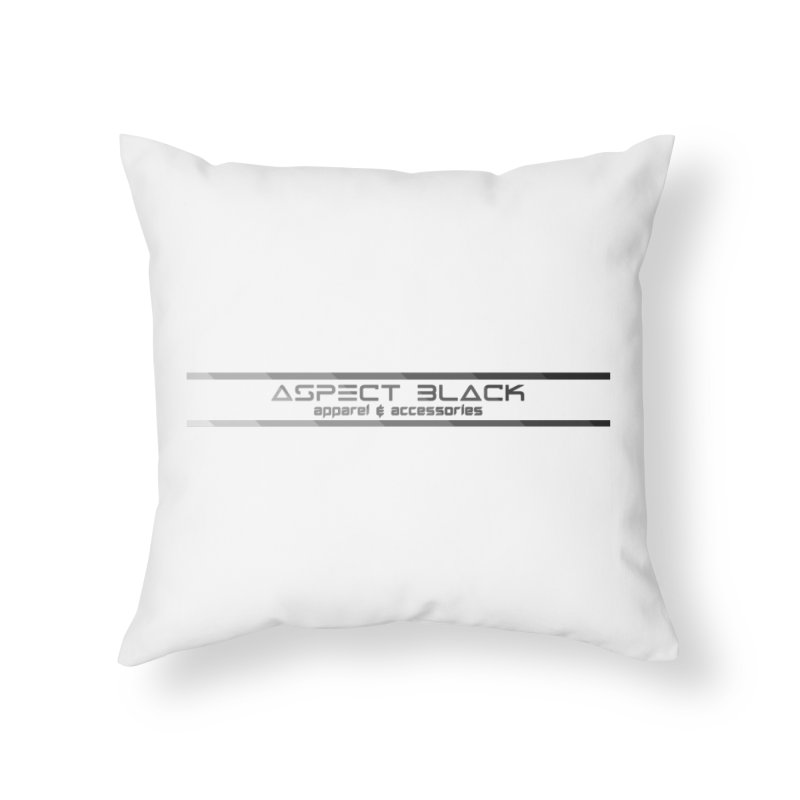 Aspect Black™ Logo Home Throw Pillow by Aspect Black™