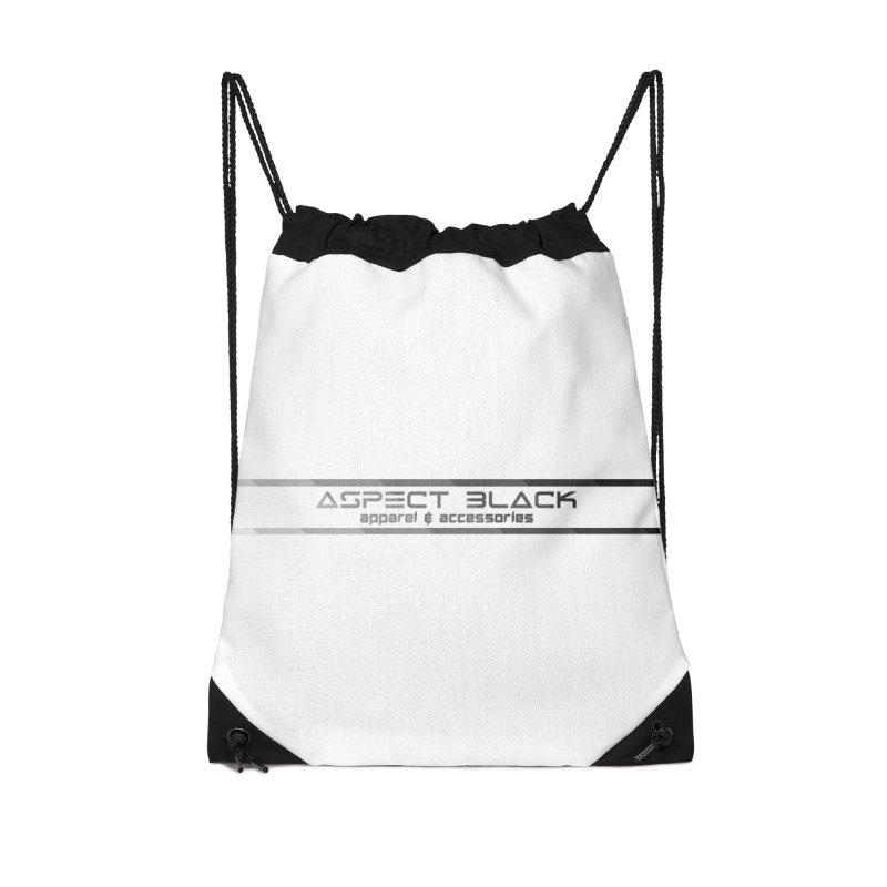 Aspect Black™ Logo Accessories Drawstring Bag Bag by Aspect Black™