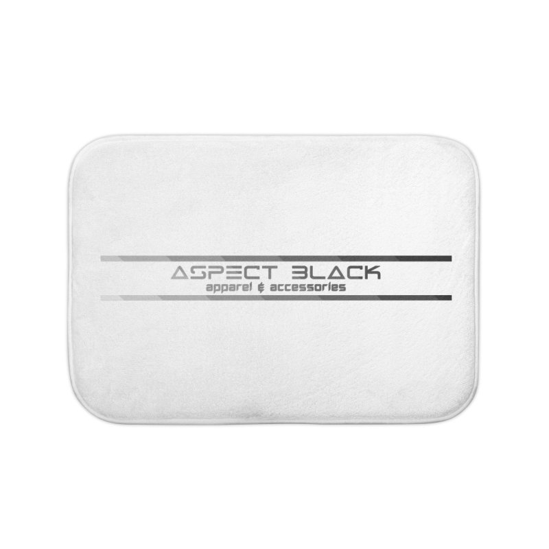 Aspect Black™ Logo Home Bath Mat by Aspect Black™