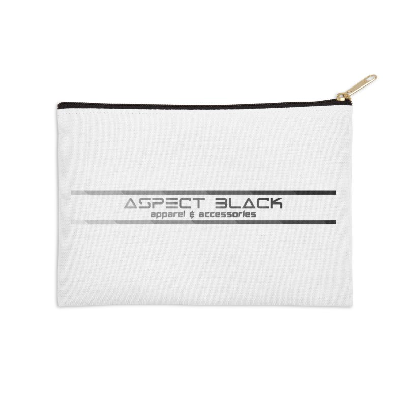 Aspect Black™ Logo Accessories Zip Pouch by Aspect Black™