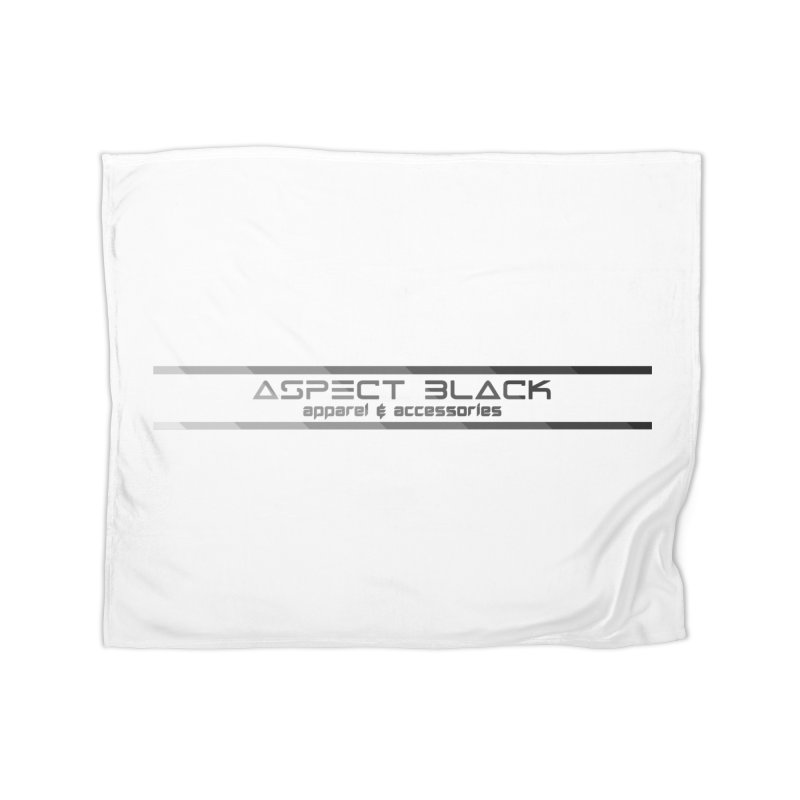 Aspect Black™ Logo Home Fleece Blanket Blanket by Aspect Black™