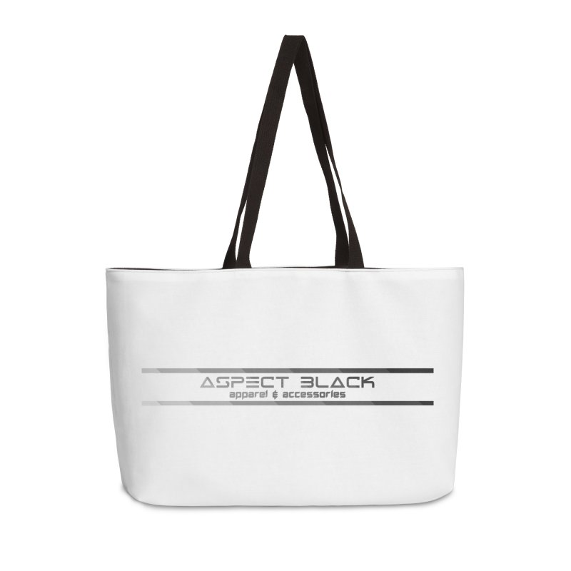 Aspect Black™ Logo Accessories Weekender Bag Bag by Aspect Black™