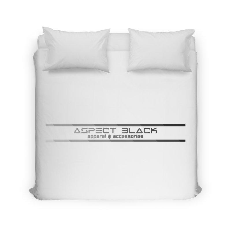 Aspect Black™ Logo Home Duvet by Aspect Black™