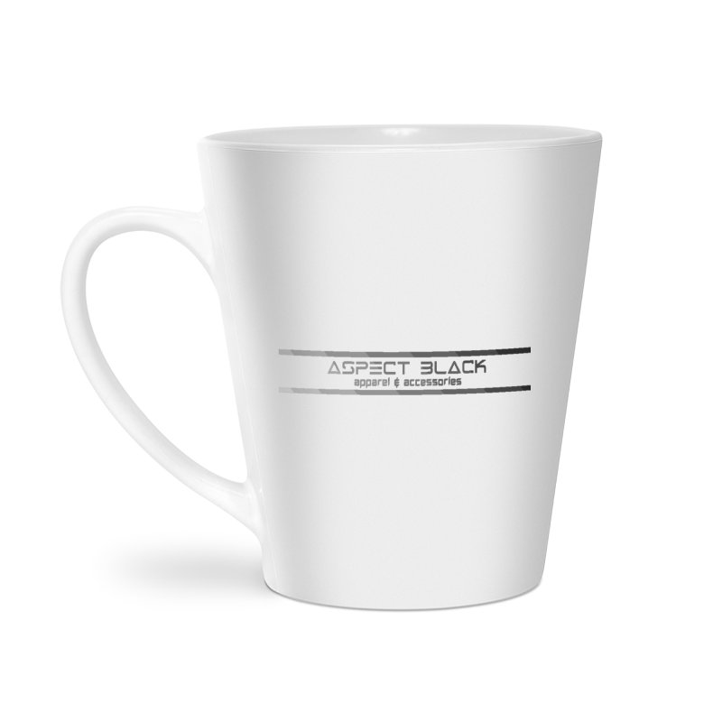 Aspect Black™ Logo Accessories Latte Mug by Aspect Black™