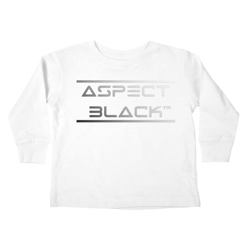 Aspect Black™ Logo Kids Toddler Longsleeve T-Shirt by Aspect Black™