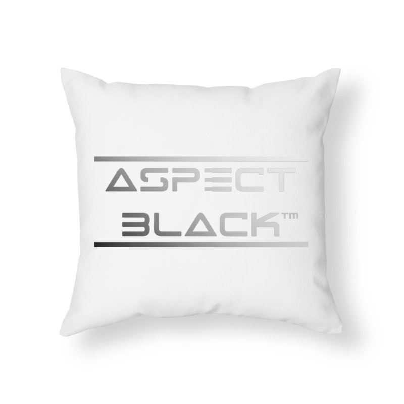 Aspect Black™ Logo Home Throw Pillow by Aspect Black™