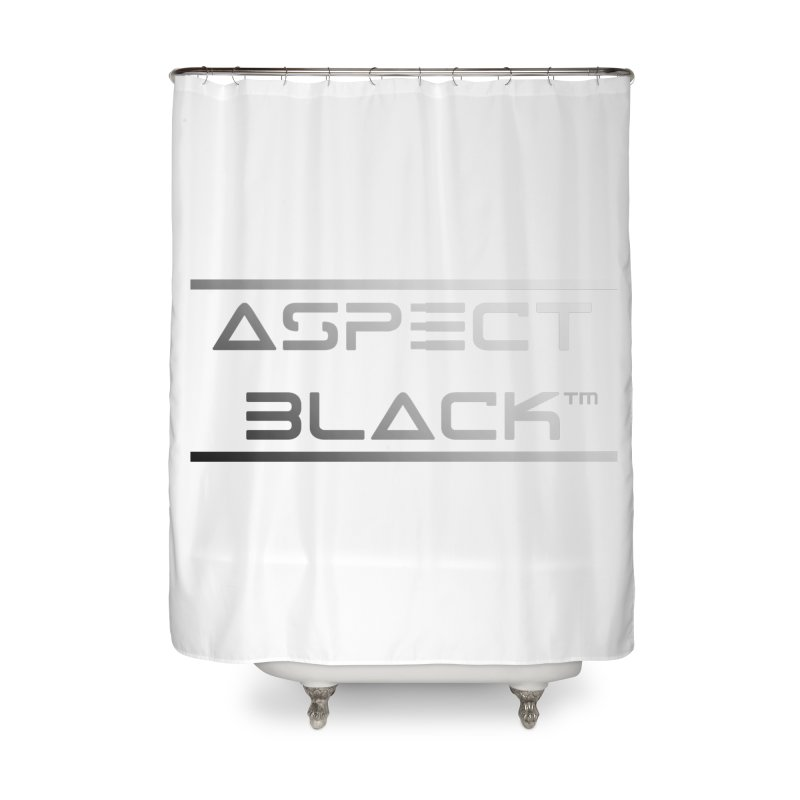 Aspect Black™ Logo Home Shower Curtain by Aspect Black™
