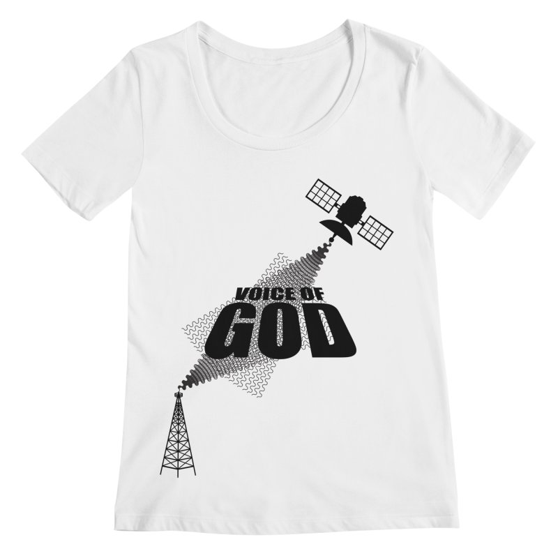 Voice of God - Light Women's Regular Scoop Neck by Aspect Black™